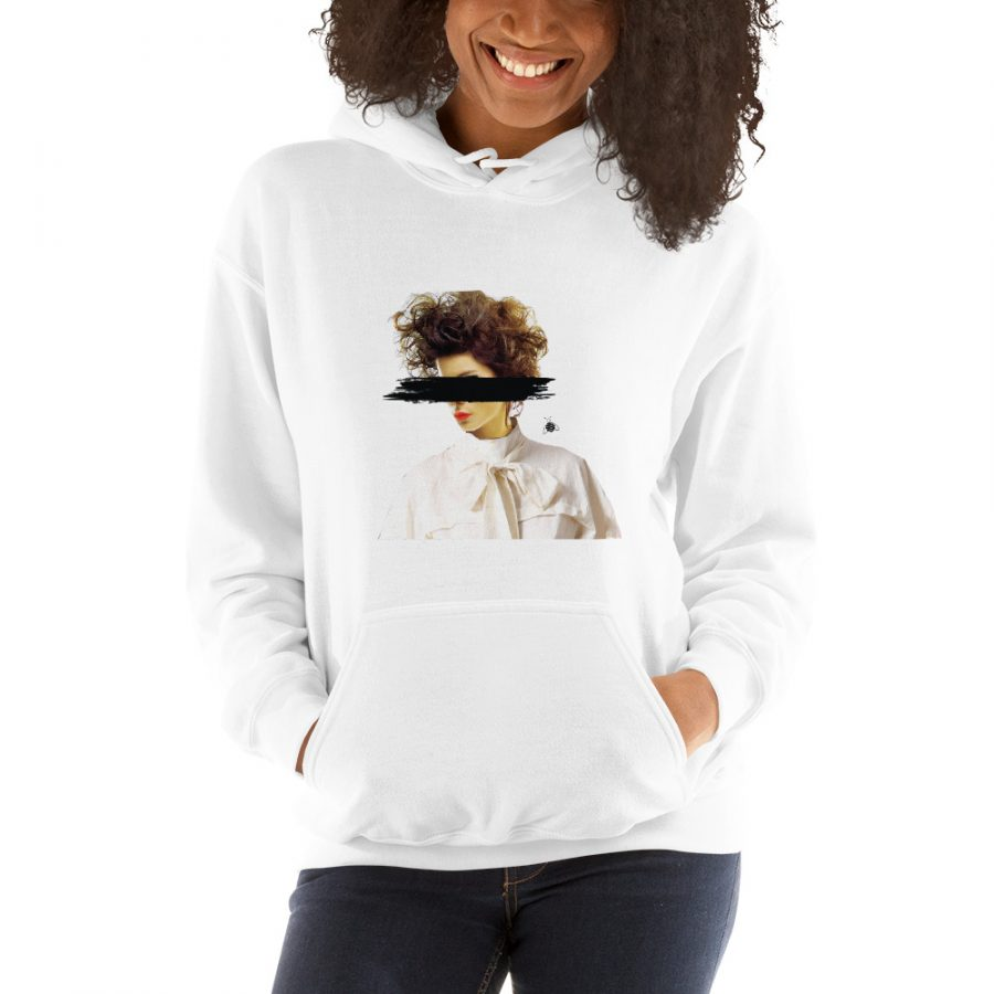 """Women hoodie """"Eyes covered"""" high quality"""