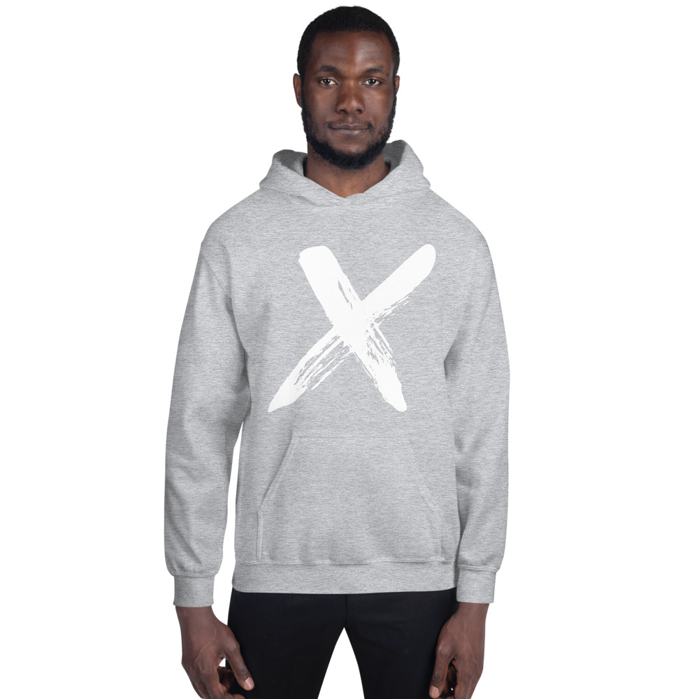"""Men's hoodie """"X"""" high quality 02"""