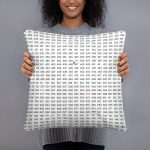 """Couch pillow """"numbers"""" high quality"""