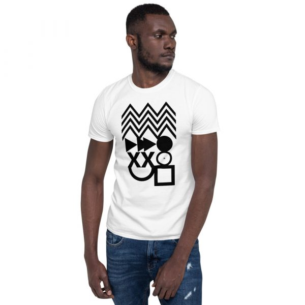 Abstract shapes t shirt high quality