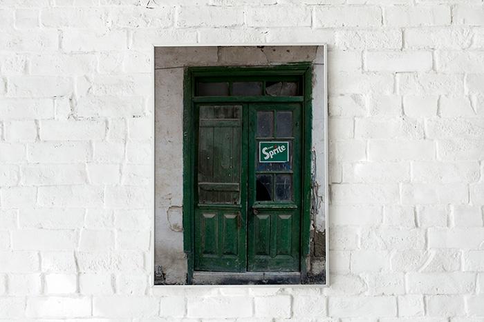 """Door photo """"Green"""" high quality"""