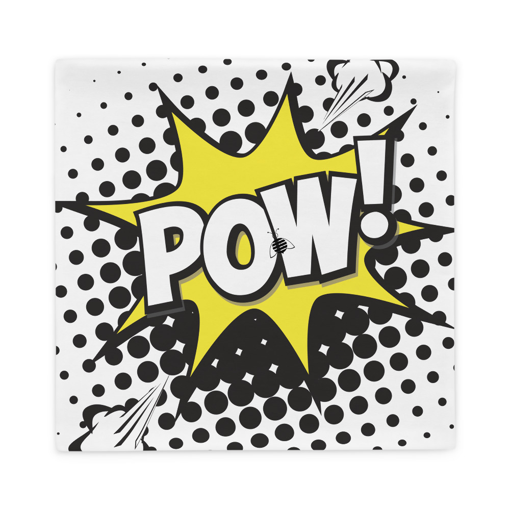 """Couch """"pow"""" pillow case best quality"""