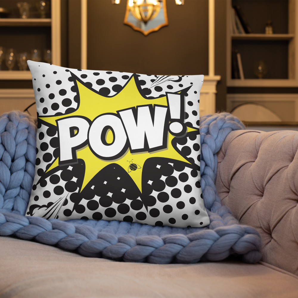 """Couch pillow """"pow"""""""