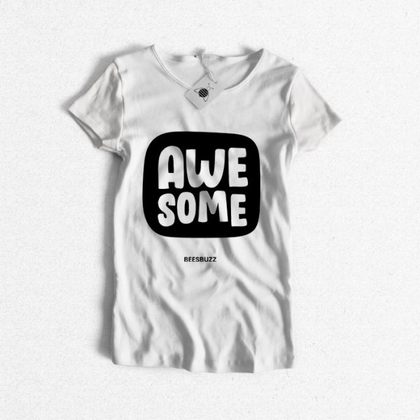 """High Quality 3D effect T-Shirt design """"awesome"""""""