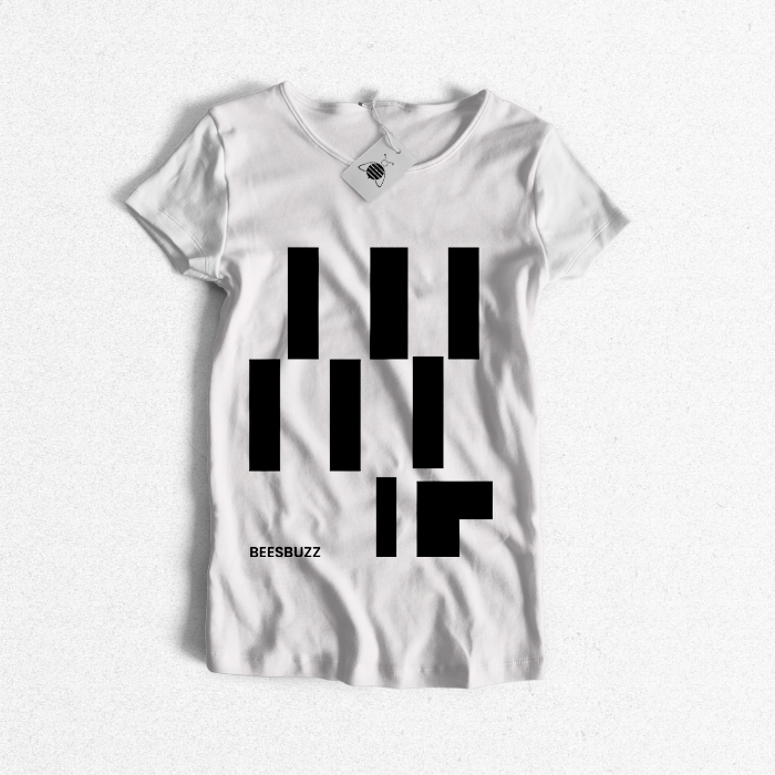Abstract lines T Shirt high quality