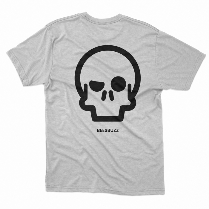BC skull T shirt men SPORT GREY 1