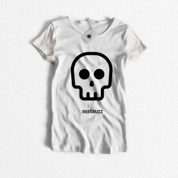 Skull T-shirt women high quality