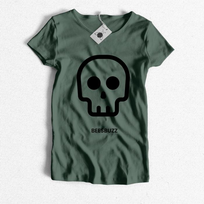 bC skull T shirt khaki