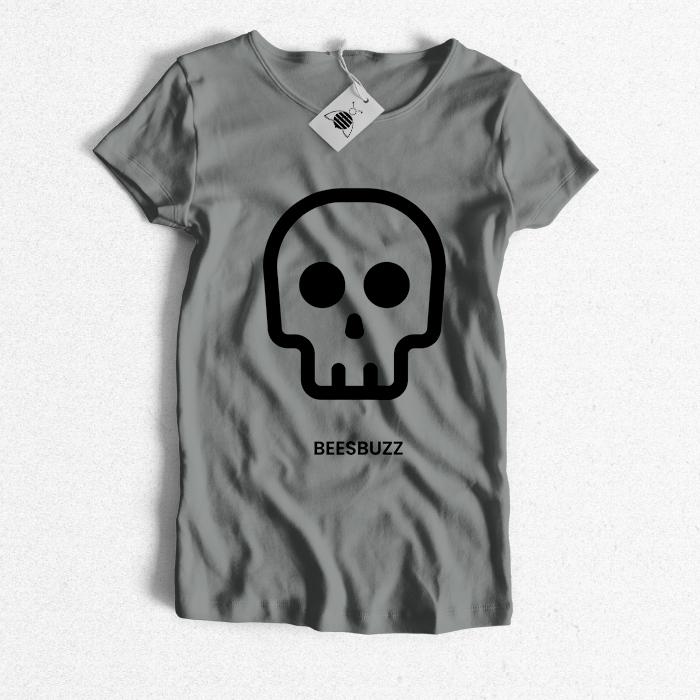 bC skull T shirt sport grey