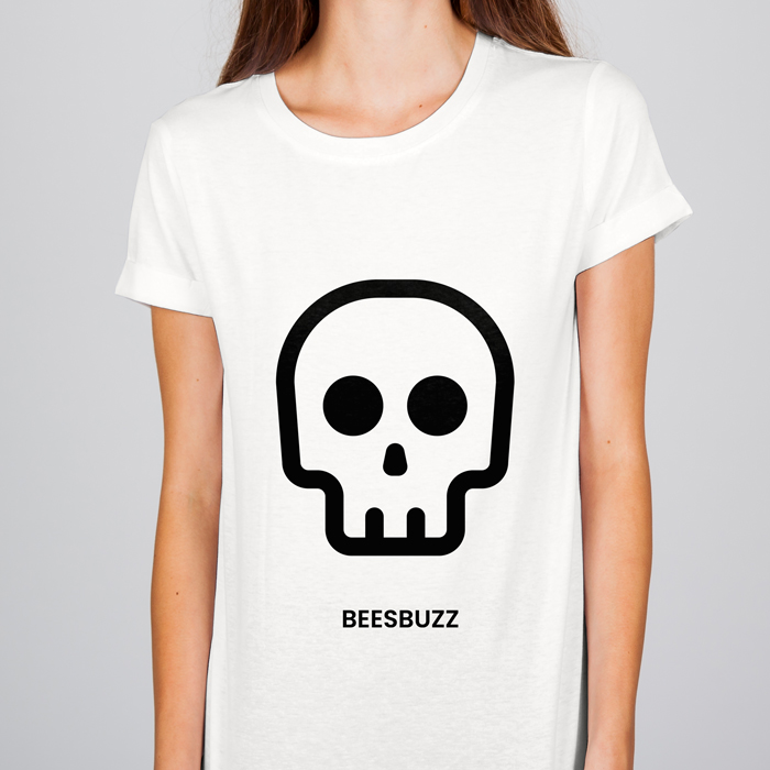 bC skull T shirt sport mockup