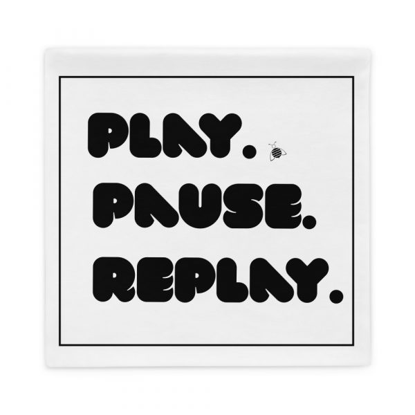 """Couch pillow case """"play"""" """"pause"""" """"replay"""""""