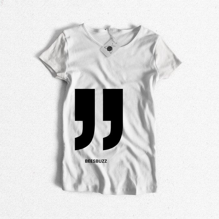 "Women t shirt ""quotation mark"" high quality"