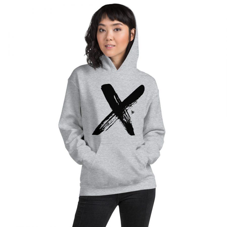 "Women hoodie ""X"" high quality"
