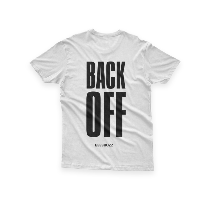 "Women t shirt ""back off"" high quality"